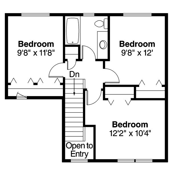 Floor Plan - Upper Floor Plan Plan #124-470