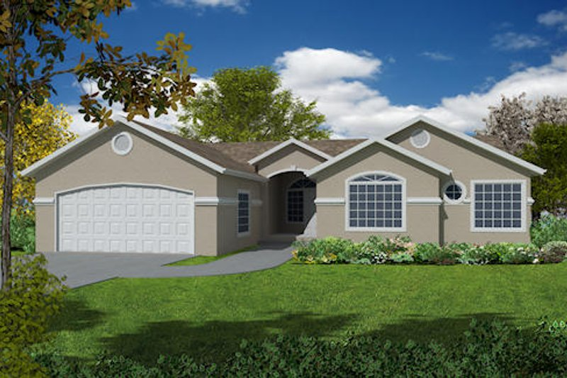 Country Exterior - Front Elevation Plan #437-20