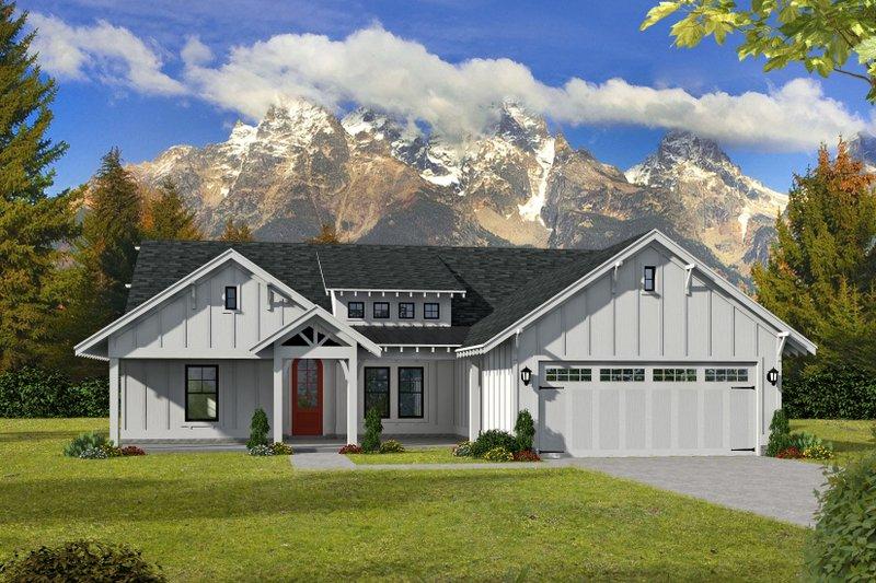 Home Plan - Craftsman Exterior - Front Elevation Plan #932-275