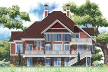 House Plan Design - Victorian Exterior - Rear Elevation Plan #930-171