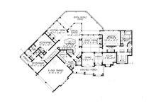 Craftsman Floor Plan - Main Floor Plan Plan #54-415