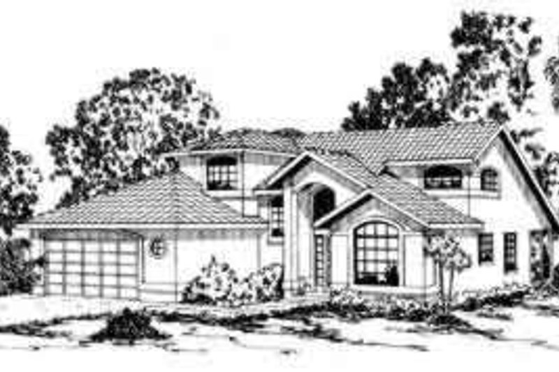 Mediterranean Exterior - Front Elevation Plan #124-239