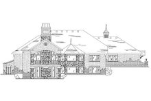 House Plan Design - European Exterior - Rear Elevation Plan #5-276