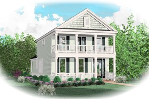 Southern Exterior - Front Elevation Plan #81-13614