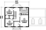 Colonial Style House Plan - 3 Beds 1 Baths 2189 Sq/Ft Plan #25-4701 Floor Plan - Upper Floor Plan