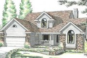 Traditional Style House Plan - 3 Beds 2.5 Baths 1858 Sq/Ft Plan #20-2031 Exterior - Front Elevation