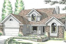 Home Plan - Traditional Exterior - Front Elevation Plan #20-2031