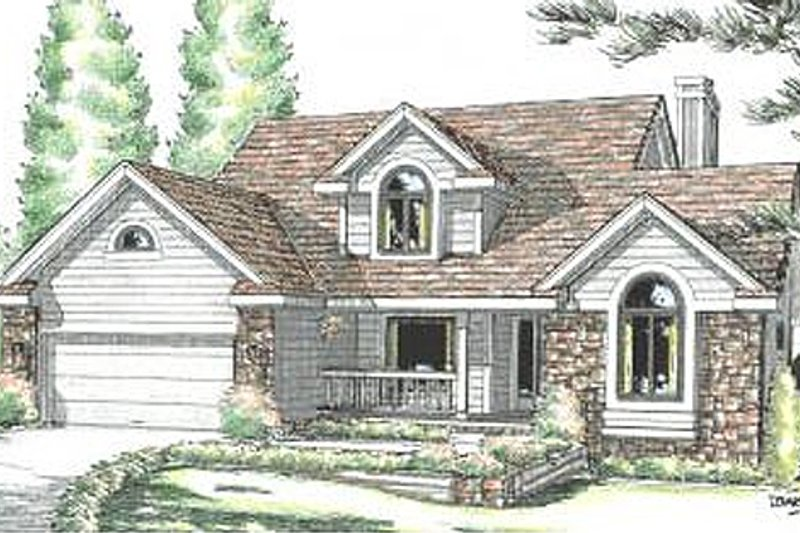 Traditional Exterior - Front Elevation Plan #20-2031 - Houseplans.com