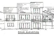 House Plan - 3 Beds 2.5 Baths 2383 Sq/Ft Plan #322-101 Exterior - Rear Elevation