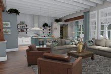 Farmhouse Interior - Family Room Plan #120-255