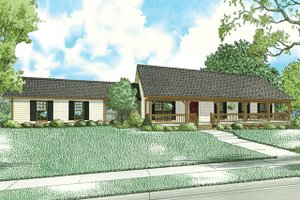 Architectural House Design - Country Exterior - Front Elevation Plan #17-2612