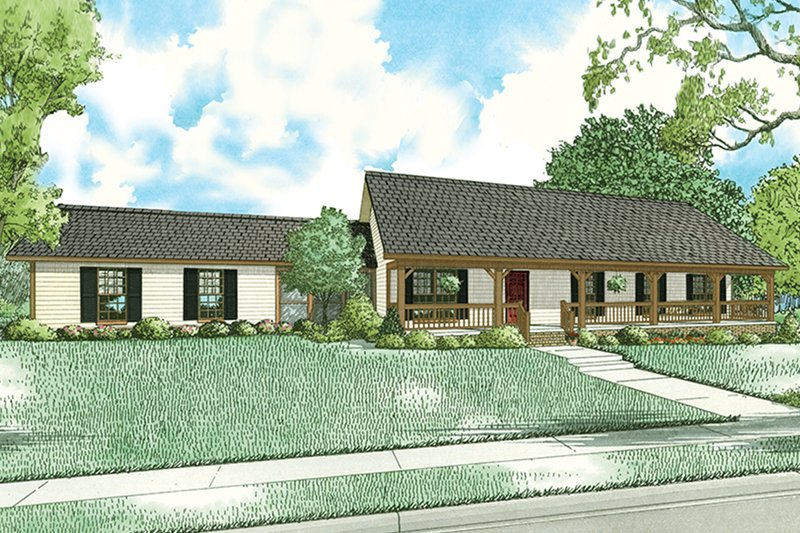 Dream House Plan - Country Exterior - Front Elevation Plan #17-2612