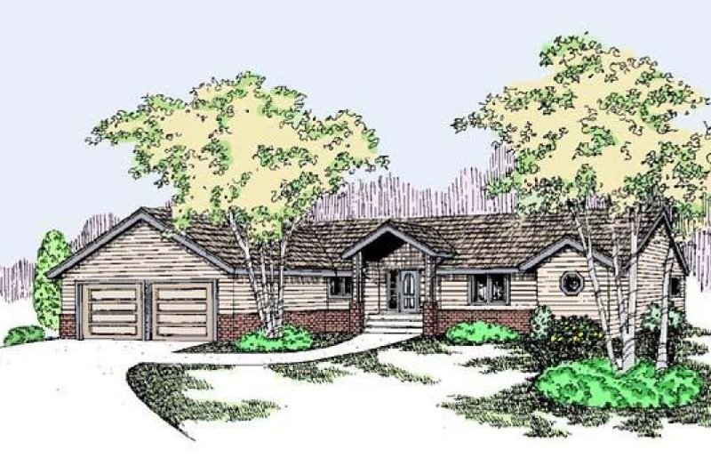 Traditional Exterior - Front Elevation Plan #60-498 - Houseplans.com