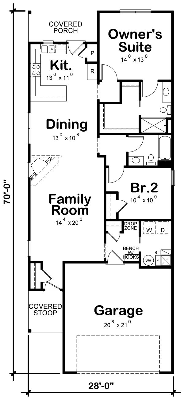 Traditional Floor Plan - Main Floor Plan Plan #20-2342