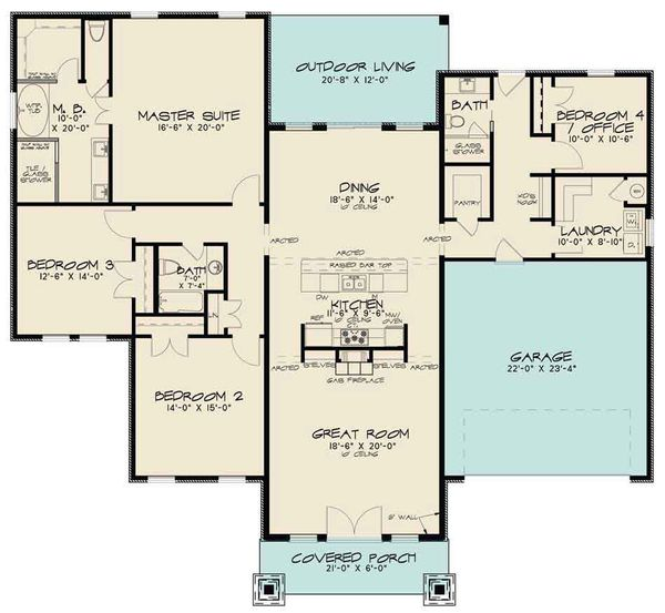Modern Floor Plan - Main Floor Plan Plan #17-2598