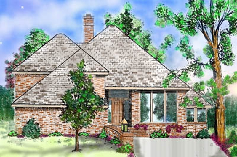 Contemporary Exterior - Front Elevation Plan #52-144 - Houseplans.com