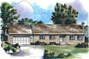 Ranch Style House Plan - 3 Beds 1.5 Baths 1340 Sq/Ft Plan #18-9321 Exterior - Front Elevation