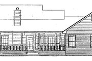 Country Style House Plan - 3 Beds 2 Baths 1654 Sq/Ft Plan #14-121 Exterior - Rear Elevation