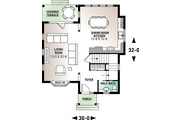 Country Style House Plan - 3 Beds 1.5 Baths 1638 Sq/Ft Plan #23-2240 Floor Plan - Main Floor Plan
