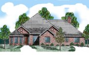 European Style House Plan - 4 Beds 3.5 Baths 2966 Sq/Ft Plan #52-220 Exterior - Front Elevation