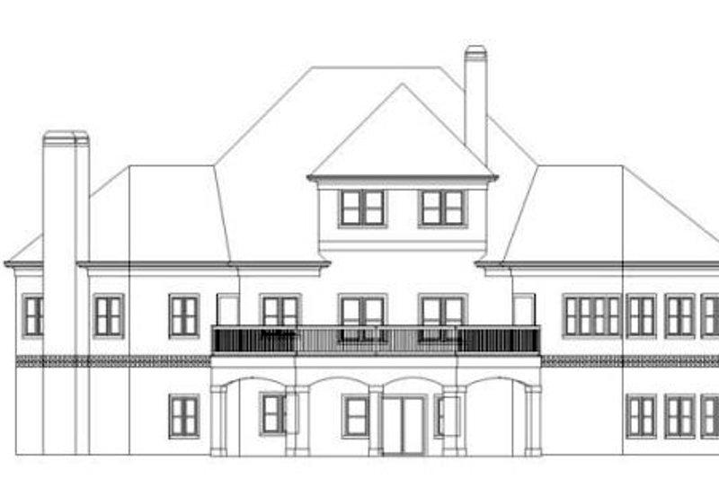 European Exterior - Rear Elevation Plan #119-348 - Houseplans.com