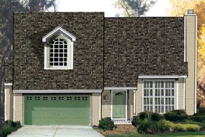 Architectural House Design - Cottage Exterior - Front Elevation Plan #3-161