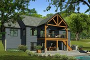 Craftsman Style House Plan - 3 Beds 2.5 Baths 2261 Sq/Ft Plan #1010-230 Exterior - Rear Elevation