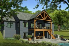 Dream House Plan - Craftsman Exterior - Rear Elevation Plan #1010-230