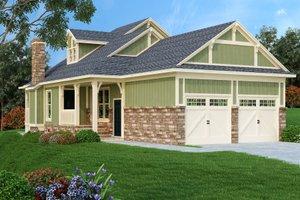 Craftsman Exterior - Front Elevation Plan #45-592