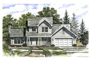 Traditional Style House Plan - 3 Beds 2.5 Baths 1792 Sq/Ft Plan #316-112 Exterior - Front Elevation