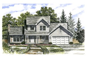 Traditional Exterior - Front Elevation Plan #316-112