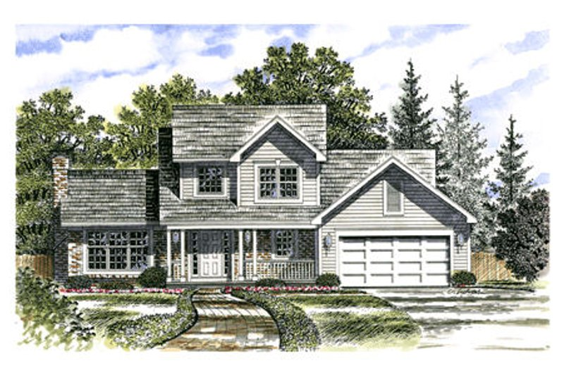 Traditional Style House Plan - 3 Beds 2.5 Baths 1792 Sq/Ft Plan #316-112