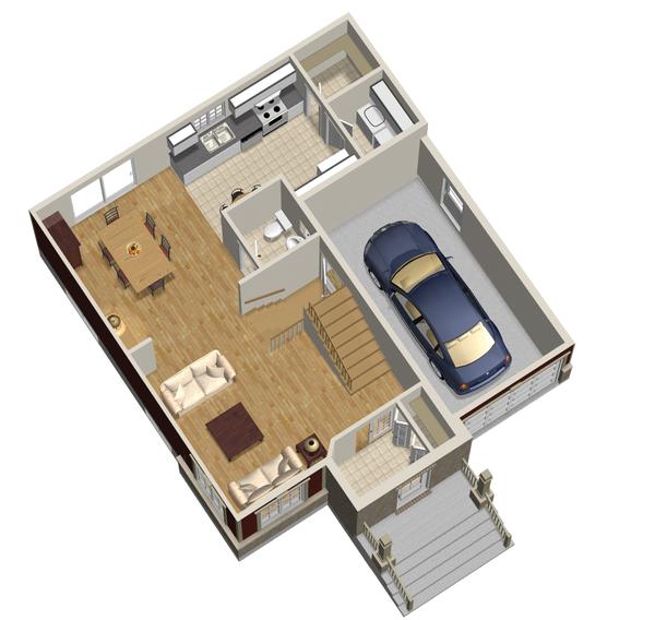 Traditional Floor Plan - Main Floor Plan Plan #25-4697