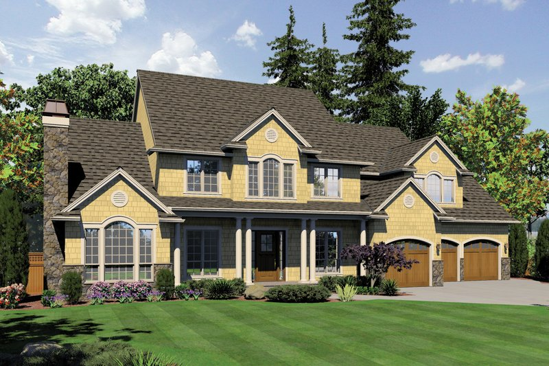 Country Exterior - Front Elevation Plan #48-619