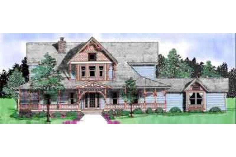 Victorian Exterior - Front Elevation Plan #52-182 - Houseplans.com