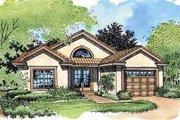 Mediterranean Style House Plan - 2 Beds 2 Baths 1042 Sq/Ft Plan #320-420
