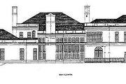 European Style House Plan - 4 Beds 4.5 Baths 7116 Sq/Ft Plan #119-174 Exterior - Rear Elevation