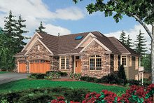 Dream House Plan - European Exterior - Front Elevation Plan #48-428