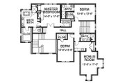 Traditional Style House Plan - 4 Beds 4.5 Baths 4311 Sq/Ft Plan #490-14 Floor Plan - Upper Floor Plan