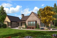 Dream House Plan - Modern Exterior - Front Elevation Plan #48-478