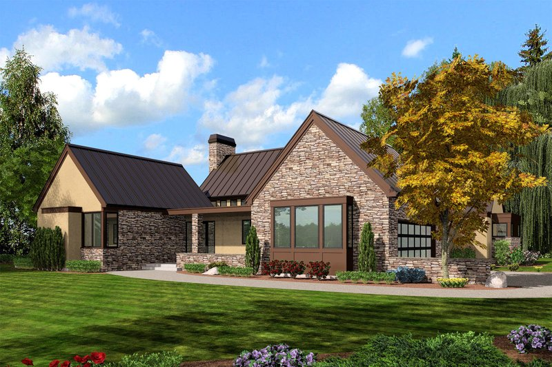 Home Plan - Modern Exterior - Front Elevation Plan #48-478