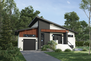 Dream House Plan - Contemporary Exterior - Front Elevation Plan #25-4877