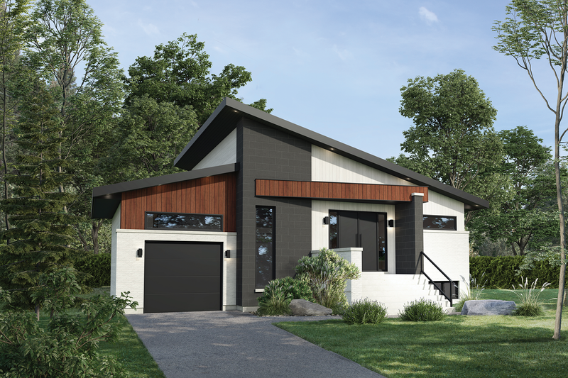 Home Plan - Contemporary Exterior - Front Elevation Plan #25-4877