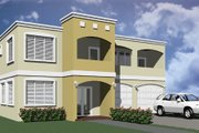 Modern Style House Plan - 3 Beds 2.5 Baths 2215 Sq/Ft Plan #495-4 Exterior - Front Elevation