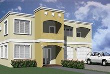 Home Plan - Modern Exterior - Front Elevation Plan #495-4