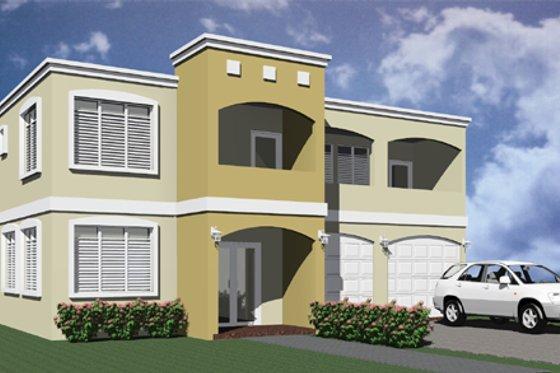 Modern Exterior - Front Elevation Plan #495-4