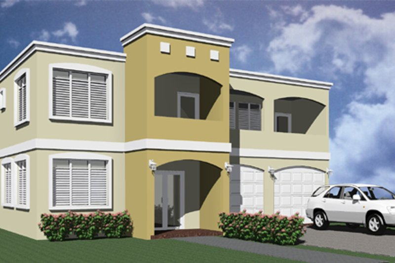 Modern Exterior - Front Elevation Plan #495-4