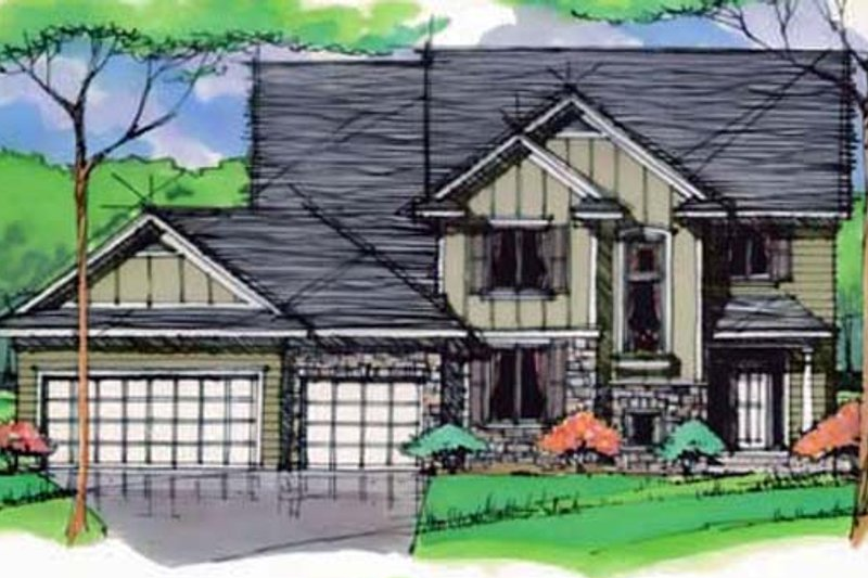 Traditional Exterior - Front Elevation Plan #51-401 - Houseplans.com