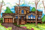 Bungalow Style House Plan - 3 Beds 2.5 Baths 2467 Sq/Ft Plan #135-201 Exterior - Front Elevation