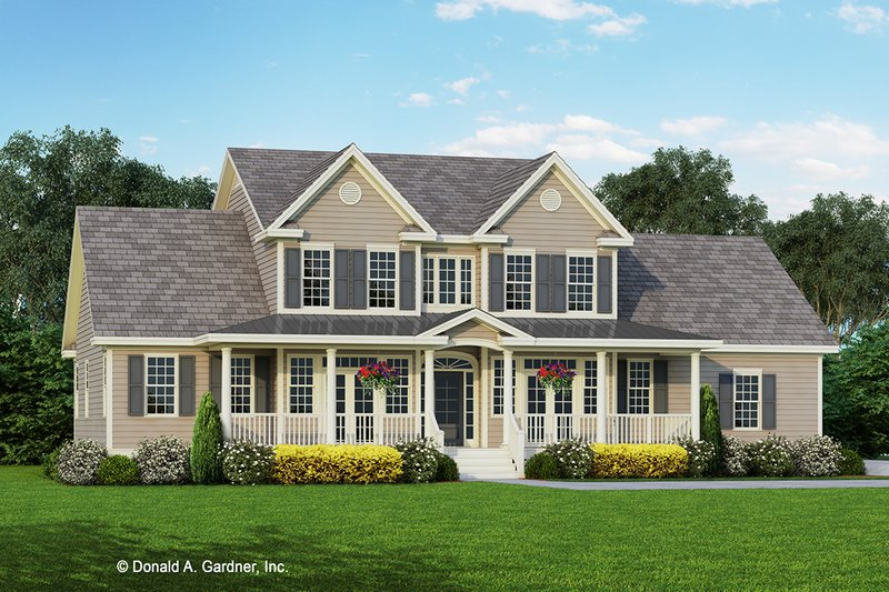 Country Exterior - Front Elevation Plan #929-667